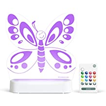 Aloka Butterfly Starlight Multi-Colored LED Light with Remote Control, Multi-Color Changing, 8 inch