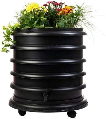 WormBox : Vermicompostador 3 bandejas Negro + Jardinera - 56 ...