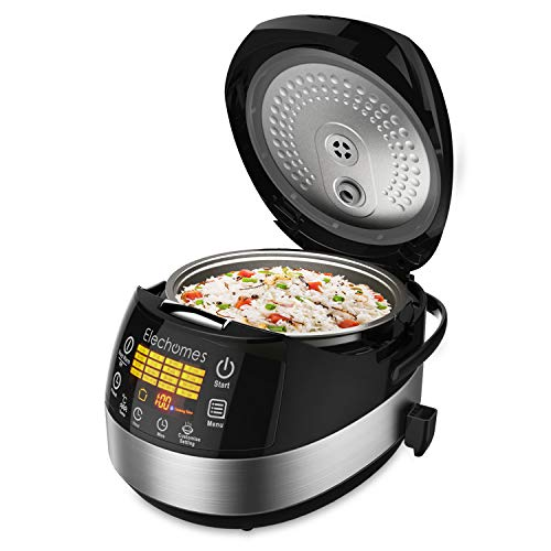 Elechomes LED Touch Control Rice Cooker, 16-in-1 Multi-function Cooker, 10-Cups Uncooked Warmer...