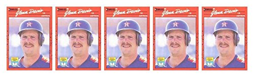 (5) 1990 Donruss Learning Series #22 Glenn Davis Baseball Card Lot Astros