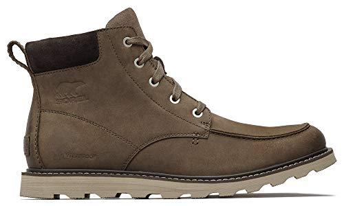 Sorel - Men's Madson Moc Toe Waterproof Boot, All-Weather Footwear for Everyday Wear, Major, Buffalo, 13 M US