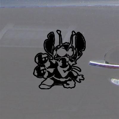 【クーポン対象外】 MacbookノートブックDie B014NFVSGW Cutステッカーデカール装飾壁アート粘着ビニール装飾用ヘルメットラップトップ車車ブラックステッチLiloアート B014NFVSGW, 盛岡市:6fac7b7a --- a0267596.xsph.ru