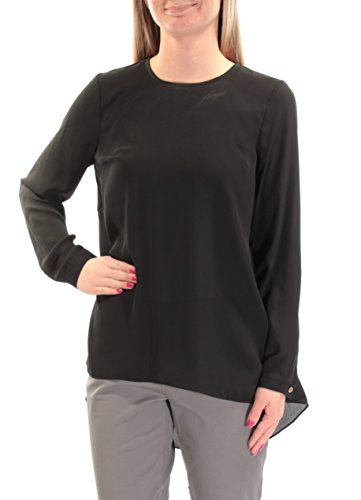 97b276d87c13d2 Vince Camuto Womens Long-Sleeve Scoop-Neck Blouse Black XS at Amazon Women's  Clothing store: