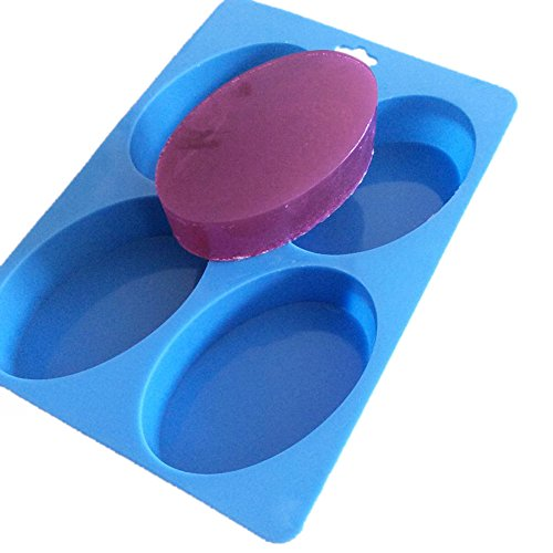 Oval Basic Glossy Soap Lotion Bar Silicone Mold for HomeMade Supplies -