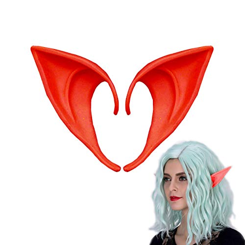 Halloween Costumes Vampire Fairy (MYMENU Fairy Pixie Elf Ears Anime Party Dress Up Costume Accessories Halloween Party Props Masquerade Ball Elven Vampire Fairy Ears (Short)