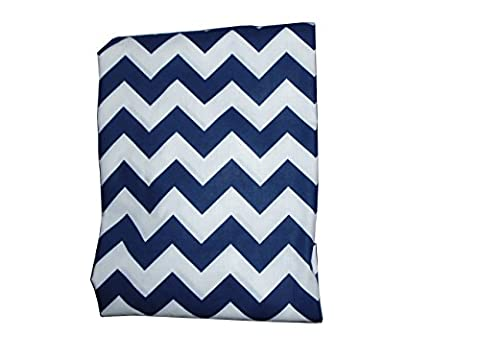 Baby Doll Bedding Chevron Fitted Crib/Toddler Bed Sheet, Navy
