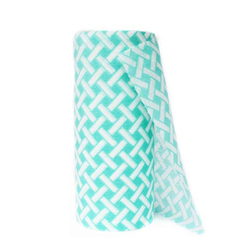JEBBLAS Disposable Cleaning Towels Dish Towels and Dish Cloths Reusable Towels,Thick Handy Cleaning Wipes 90 Count/Roll,Green