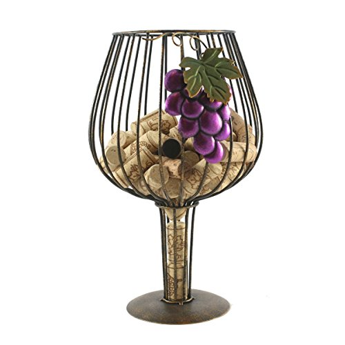 Big Wine Glass Cork Holder for Wine Lovers By Thirteen Chefs]()