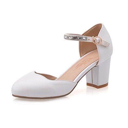 vidrio sandalias 1to9 Vogue Blanco Poliuretano diamante nbsp;Mujer de RxqgwWqf5