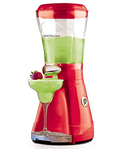 Nostalgia MSB64 Margarita and and Slush Maker, 64-Ounce, Red