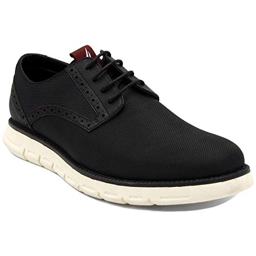 - Nautica Men's Oxford Shoe Fashion Sneaker-Palmetto-Black Nylon-10.5