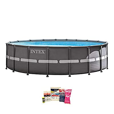 "Intex 18' x 52"" Ultra Frame Pool w/Pump, Volleyball Set & Chemical Cleaning Kit"