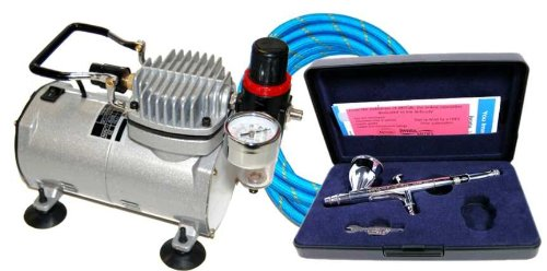 - IWATA HP-C PLUS High-Performance AIRBRUSH w/COMPRESSOR