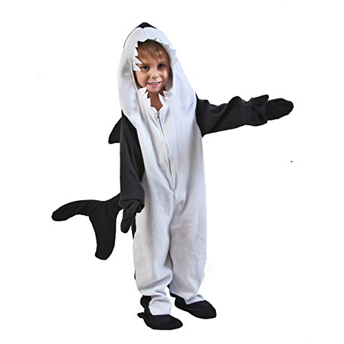 Children's Orca Costume (Child Black Fish Killer Whale (Large 10-12))