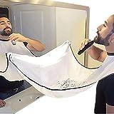 Beard Catcher Apron Beard Cape Bib and Beard Shaping Tool for Shaving Trim Shave Apron Bib For Men No Mess (white)