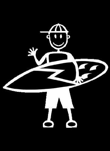 My Stick Figure Family - Mis Pegue la figura familia de coches pegatina de vinilo ventana