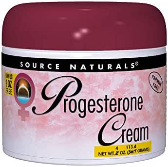 Source Naturals Progesterone Cream - Women's Health Support - High Purity, Paraben Free - 4 Ounces