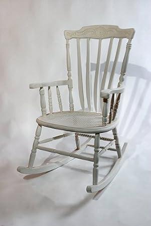 Beau Shabby Chic White Rocking Chair