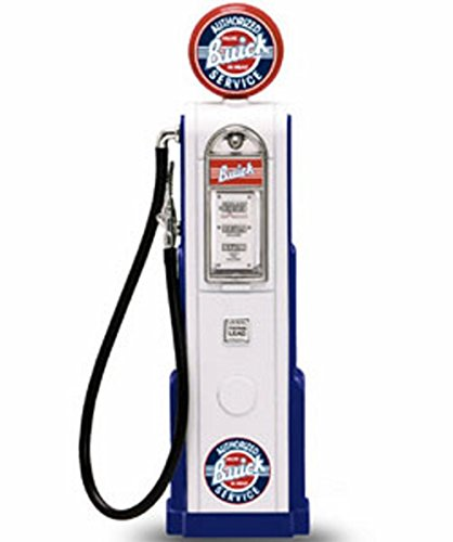 - Dollhouse Miniature White Old-Fashioned Buick Service Gas Pump