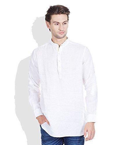 Royal Kurta Men's Summer Wear Fine Cotton Blended Straight Kurta 44 White