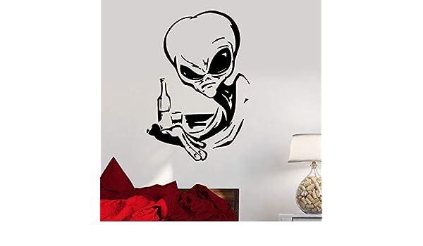 Crjzty Vinilo Tatuajes de Pared Extraterrestre ovni decoración ...
