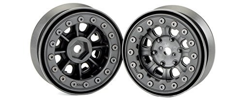 (Pro-line Racing 274715 Denali 1.9 Black/Black Bead Loc 8 Spoke Front or Rear Wheels Radio Control Parts)