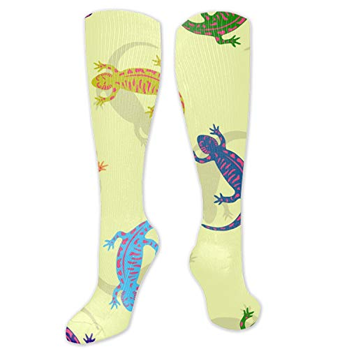 (Unisex 3D Colorful Salamander Socks Crazy Tube Funny Novelty Polyester Fibre Socks)