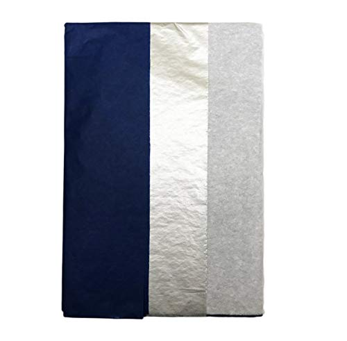 Blue Silver and White 10 Sheets Hanukkah Christmas Holiday Wrapping Gifting Tissue Paper