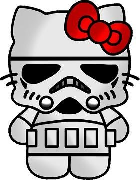 Stormtrooper Hello Kitty Car Window Wall Macbook Notebook Laptop Sticker Decal