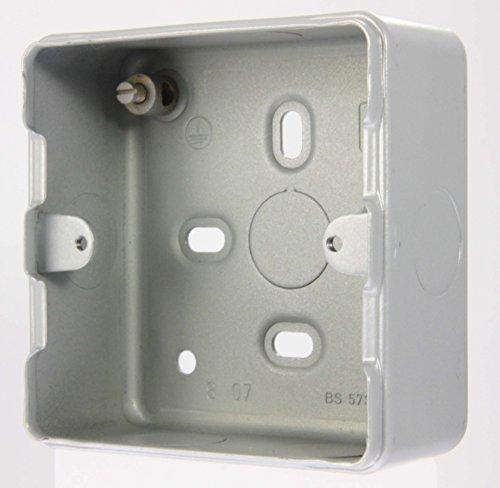 Mk Metalclad//Rejilla Plus-K8891 ALM-uno//dos Gang Interruptor de cuadrícula de superficie caja nuevo