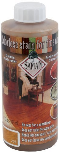 SamaN TEW-203-12 12-Ounce Interior Water Based Stain for Fine Wood, Sesame by SamaN