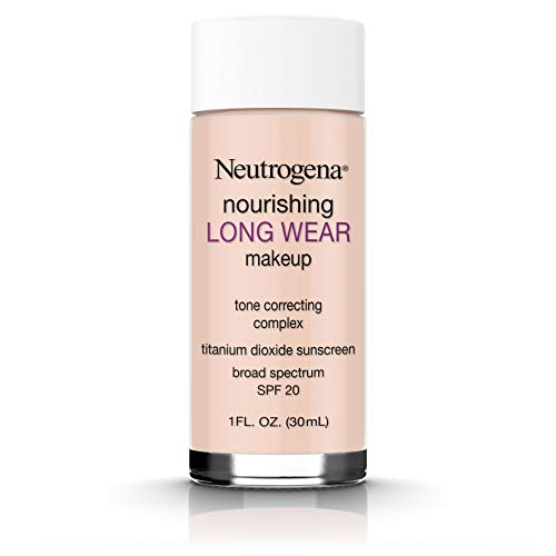 Neutrogena Nourishing Long Wear Liquid Makeup Foundation With Sunscreen, 20 Natural Ivory, 1 Fl. Oz.