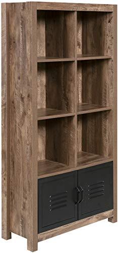 OneSpace 50-JN23BK8 Norwood Range Locker Bookshelf, Oak