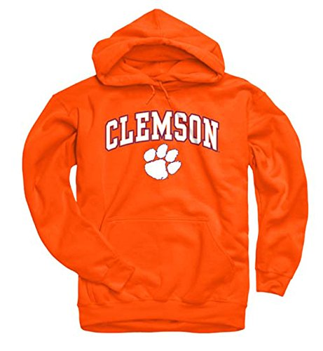Campus Colors Clemson Tigers Arch & Logo Gameday Hooded Sweatshirt - Orange, Large