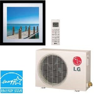 LG LA120HVP Art Cool Single Zone Duct-Free Split System 11200 BTU Cool 13300 BTU Heat
