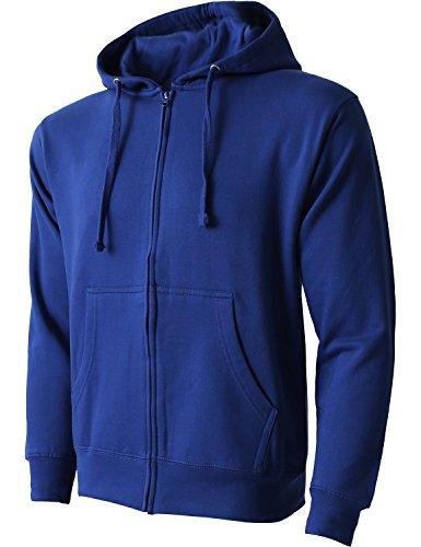 Hat and Beyond Mens Zip up Hoodie Sweatshirts(Large/hc11_RoyalBlue)