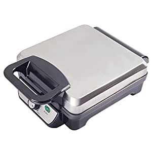Costway Flip Belgian Waffle Maker Square Non Stick Stainless Steel w/ Removable Drip Tray