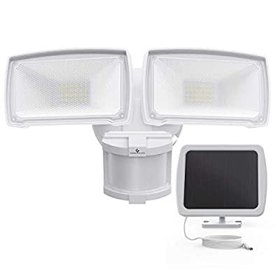 Solar Security Lights Outdoor, GLORIOUS-LITE 1000LM Super Bright Solar LED Security Light