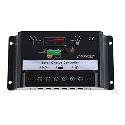 Whitelotous 10A/30A Solar Panel Battery Charge Controller Regulator 12V 24V Auto Switch