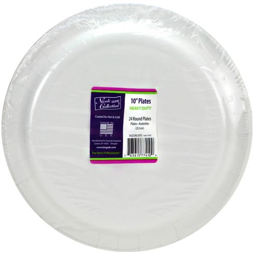 Nicole Home Collection Dazzling Dots Paper Plates, 10-Inch