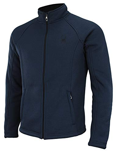 Bonded Full Zip Fleece - Spyder Men's Steller Full Zip Jacket Frontier L
