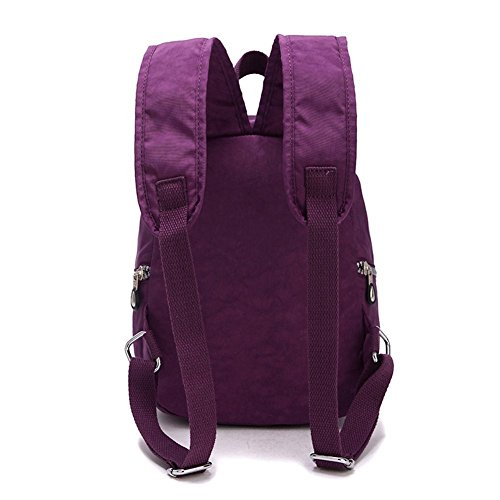 Bags Schoolbag Rucksacks Purple Womens Girls Waterproof Backpack Nylon Daypacks Mini Lifewheel 8Y4q6wxCT