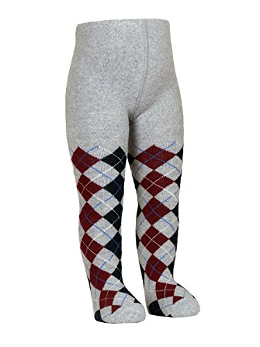 Baby Boy Argyle Cotton Terry Tights (1-3 years, Gray)