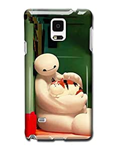 Tomhousomick Custom Design Cute Big Hero Baymax Case Cover for Samsung Galaxy Note4 N9100 Say: Hello ,I'm Baymax.What's your pain level.