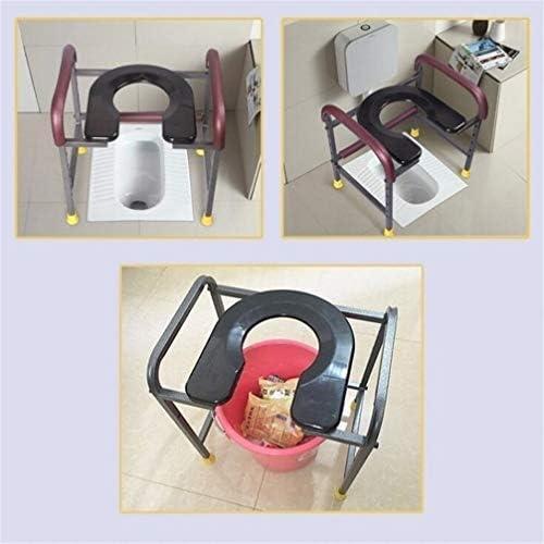 Bbhhyy Toilettenstuhl Toilettenstuhl Typ WC Mobiltoilette Sitz for Schwangere Frauen Old Man Squat Pit Ändern Squat Hocker