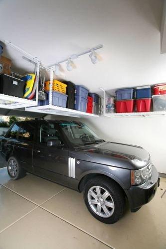 Saferacks 4'x 8' Overhead Ceiling 24''-45'' Garage Storage System Rack Shelves!