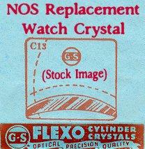 I.D. Watch Case 21.5 X 18.9 NOS Flexo Replacement Watch Crystal CMX325-15 Nos Watch Crystal