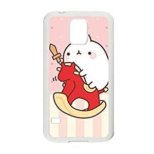 Generic Hipster Phone Cases For Girly Custom Design With Molang Rabbit For Samsung Galaxy S5 Choose Design 9