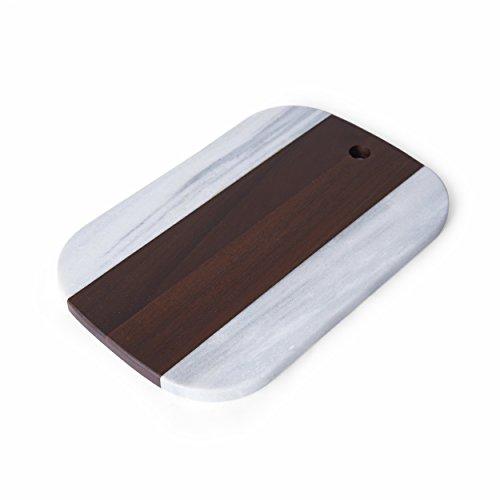 Pfaltzgraff 5223870 Marble and Acacia Wood Cheese Serving Board, 12