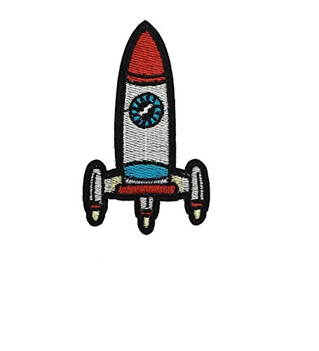 Space Rocket DIY Applique Embroidered Sew Iron on Patch ()